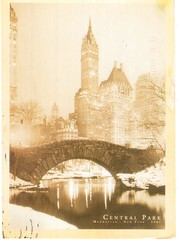 Postcrossing US-5229618 (booboo_babies) Tags: sepia newyork newyorkcity centralpark 1961 1960s blackwhite postcrossing