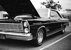 Gardena Elks Car Show (Ilford Delta 100) (JCD Images) Tags: elks lodge 1919 carshow gardena california usa march 2018 cadillac chevrolet ford madeinusa cars autos automobile classiccars musclecars hotrods streetrods street chrome rims custompaint custom kustom photography voigtlander bessar3m rangefinder cosina nokton 40mm f14 singlecoated ilford delta100 film 35mm 135 fromex prolab scanned 1965 fordgalaxie500