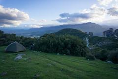 Wild camping in Meteora