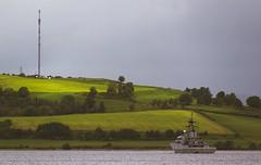 Guarding the Bay (Coisroux) Tags: islands bay gurrock scotland fields landscape nikond5500 d5500 nikond sunlight ships towers trees shoreline water lochs