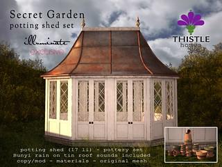 Thistle Secret Garden Potting Shed Set