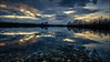In the mirror (Norbert Clausen) Tags: thebluehour bluehour blaue stunde clouds sky lake landscape landschaft himmel wolken see
