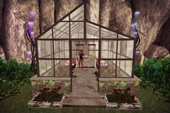 +FH+ Morticia's Greenhouse (melyna.foxclaw) Tags: facepalm fh bunnies catwa collabor88 darkside3 fabia flowers greenhouse iheartslfeed modish secondlife shorts spring tshirts theblackfair twe12ve pottingtable cerridwenscauldron inverse