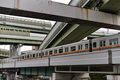 Kintetsu 7000/7020 series (jernejb) Tags: kintetsu70007020series train chuoline osakasubway kosei minato osaka japan d750