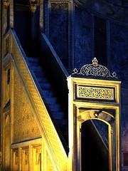 Minbar (markb120) Tags: turkey istanbul byzantium religion faith mosque islam arab muslim ligature calligraphy penmanship minbar pulpit