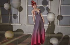 ♚ Look #411 ♚ (Caity Saint) Tags: avale dress backdrop event sl redhead secondlife pixels