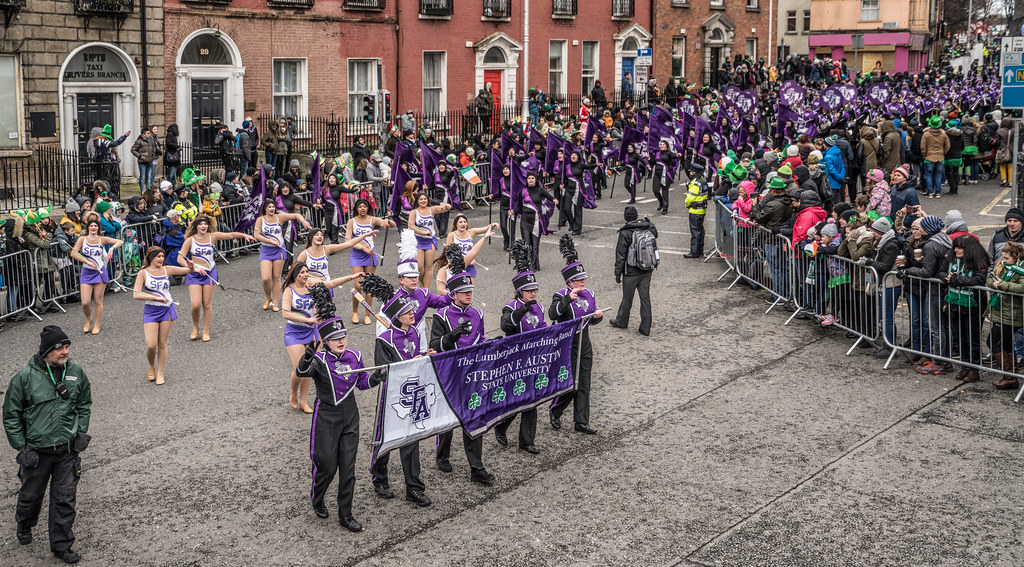 THE LUMBERJACK MARCHING BAND IN ACTION [ ST. PATRICKS DAY PARADE IN DUBLIN 2018]-137573