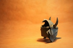 Monstrito, João Charrua (pierreyvesgallard) Tags: origami monster monstrito joao charrua paper folding papercraft wetfolding
