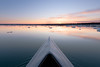 adrift (phatwhistle) Tags: grandtraversebay kayak canoe ice floatingice floating water winter boat reflection michigan leelanau nature outside clouds orange calm night evening frozen northernmichigan greatlakes