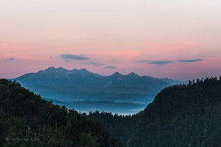 Tatry Mountains view from Sokolica dawn