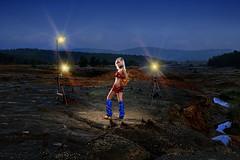chemical child -  г. Карабаш, полигон хранения токсичных отходов (Anton_Letov) Tags: карабаш strobist nikon ecology sky russia girl cosplay