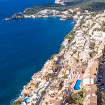 Aerial photography of Peguera, Mallorca thumbnail
