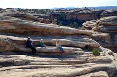 Sue & The Kids Taking A Rest On The Slickrock Trail (Joe Shlabotnik) Tags: proudparents nationalpark utah violet sue 2017 canyonlands everett november2017 canyonlandsnationalpark afsdxvrzoomnikkor18105mmf3556ged