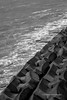 waves and barrier (steve: they can't all be zingers!!! (primus)) Tags: nikond610 nikon zoom nikkor70210mmaff456 nikkor lightroom lightroom6 chunghwacounty chunghuacounty chunghua taiwan monochrome bw blackwhite