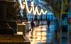 Water Colour (DobingDesign) Tags: bokeh london wet reflection street streetphotography southbank bluehour light lighting lightandshadow pedestrians rain rainy weather stringoflights illumination eveninglights winterevening