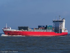 Ruth (U. Heinze) Tags: cuxhaven containerschiff container vessel ship schiff nordsee elbe olympus wasser