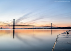 Last of the Winter Sunsets? (Damon Finlay) Tags: nikon d750 nikond750 tamron 2470 f28 tamron2470f28 long exposure longexposure lee big stopper leebigstopper little leelittlestopper coast seascape landscape firth forth firthofforth road bridge forthroadbridge queensferrycrossing queensferry crossing hawes pier hawespier southqueensferry edinburgh scotland sunset nd110