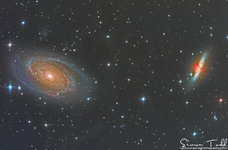 M81 and M82 in LHaRGB