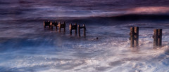 surf (selvagedavid38) Tags: bawdsey suffolk pier waves tide motion long exposure sunrise dawn coast uk north aqua