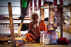 "A Sadhu In Varanasi (El-Branden Brazil) Tags: varanasi india indian ganges ganga ceremony hindu hinduism asian asia sacred holy mystical ""south asia"" sadhu"