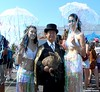 Dr. Takeshi Yamada and Seara (Coney Island sea rabbit). Brooklyn, New York.   20160618SAT MERMAID PARADE. DSCN6649=p0010C2 (searabbit29) Tags: takeshiyamada fineartexhibitions museumcollections famous japanese japaneseamerican artist osaka tokyo japan tv painting sculpture photography graphicdesign sideshow freakshow banner gaff performance fashiondesign fashion tophat jabot jewelrydesign victorian gothic goth steampunk dieselpunk fashiondesigner playboy bikini roguetaxidermist roguetaxidermy taxidermist taxidermy specialeffect cabinetofcuriosities dimemuseum seara searabbit coneyisland mythiccreature cryptozoology cryptid brooklyn newyorkcity nyc newyork