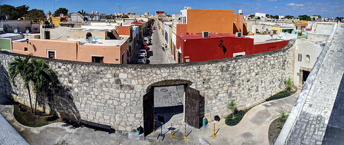 View from old city wall, Campeche