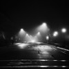 untitled-85-Edit (dvlmnkillatron) Tags: yashica mat 124 film analog square 6x6 yashicamat124 bw night evening fog champaign urbana selfdeveloped street crosswalk bike lane