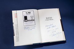 Signature Page of 2001 A Space Odyssey (Smithsonian National Air and Space Museum) Tags: 2001 space odyssey nasa astronaut tom jones shuttle atlantis monolith arthur clarke nationalairandspacemuseum