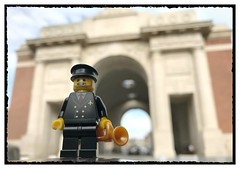 Heading for 'The Last Post'... (Ypres) (hd_lego) Tags: memorial ieper menenpoort meningate lastpost hill62 ypres worldwar1 ww1 toyphotography minifigures hdlego lego