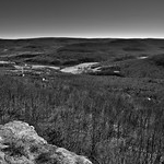 Looking Across the Hillsides of the Boston Mountains in Ozark National Forest (Black & White) thumbnail