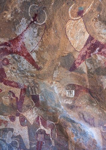 Laas geel rock art caves with paintings depicting cows, Woqooyi Galbeed region, Hargeisa, Somaliland