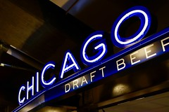 Chicago Beer (dangaken) Tags: mlb majorleaguebaseball cubs chicagocubs chicago chi atl atlantabraves wrigley wrigleyfield baseball ball ballgame spring sport stadium bleachers fans outdoors centrallakeview lakeview wrigleyville beer hotdog blue neon blueneon neonsign concessionstand