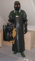 6 (gummifan61) Tags: rainwear raingear rubberslave rubber gasmaske bondage apons gags