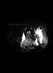 B&W 73/365 (lucyrogersphotography) Tags: blackandwhitephotochallenge blackandwhite photochallenge 365 lucyrogersphotos fire firepit amole