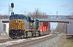 Short Stack (craigsanders429) Tags: csx csxtrains csxlocomotives csxintermodaltrains stacktrains csxstacktrains tracks railroadtracks bereaohio csxinbereaohio railfanninginbereaohio csx5449