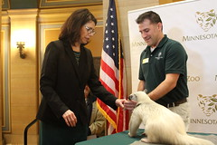 Sen Dziedzic at MN Zoo Day at the Capitol