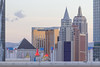 The South Strip, Las Vegas, Nevada (Mike Sirotin) Tags: architecturephotography sincity travelphotography nv city cityscape newyorknewyork cityphotography casinos lasvegas hotels excalibur delano architecture luxor pyramid buildings vegas nevada