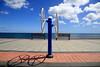 rotating world (Rasande Tyskar) Tags: fuerteventura canaryislands canarias islascanarias kanarischeinseln kanaren promenade walk sea meer himmel sky clouds wolken blau blue geometry gemometrisch geometric abstract beach strand