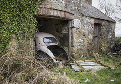 A Minor Tragedy (Ffotograffiaeth Dylan Arnold Photography) Tags: abandoned derelict forgotten rust rusting rusty classic car british morris minor project restoration outbuilding outside