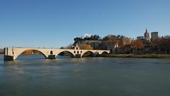 Le pont d'Avignon. (maxguitare1) Tags: bridge pont puente ponte rhône fleuve fiume rio river eau agua acqua water france provence vaucluse