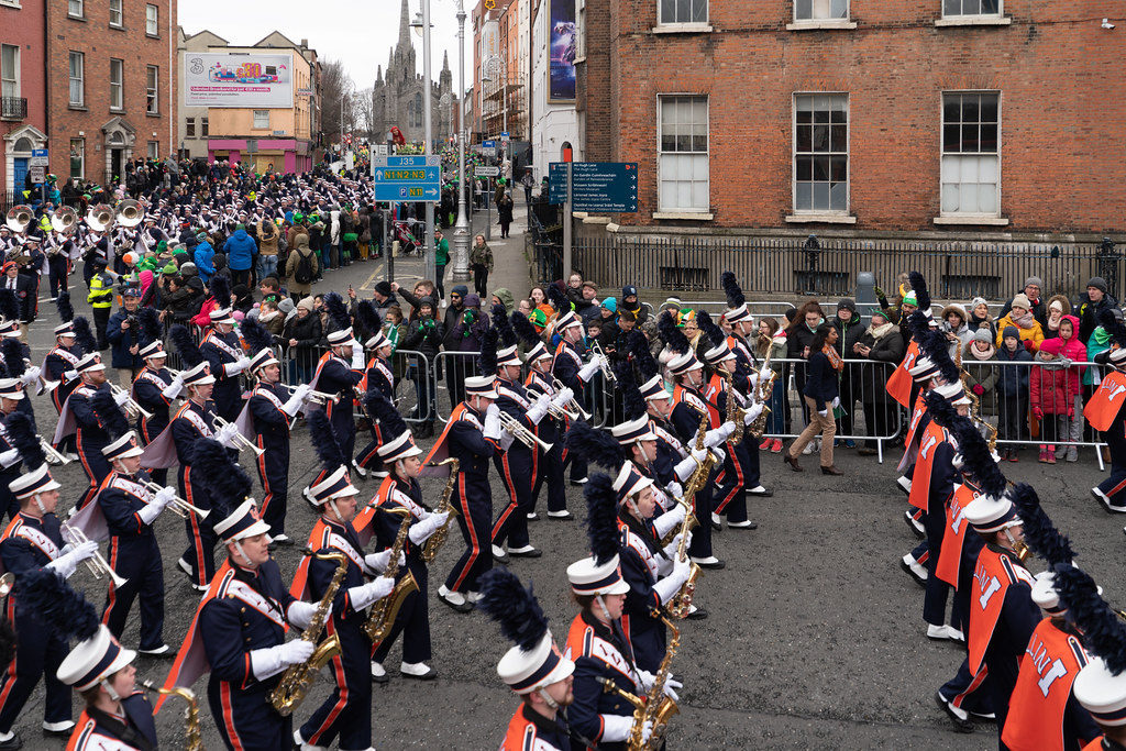 DUBLIN SAINT PATRICKS PARADE 2018 [THE MARCHING ILLINI]-137408