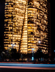 DSC_0382 (relishedmonkey) Tags: nikon d5300 tower abu dhabi investment authority corniche 35mm 18g uae city urban long exposure trail colours building night