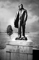 Walt Whitman (David Swift Photography) Tags: davidswiftphotography philadelphia publicart sculptures statues 35mm film ilfordxp2 nikonf2 waltwhitman