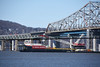 Picture Taken From The Riverwalk Trail Just South Of Old Tappan Zee Bridge/New Mario M Cuomo Bridge. The Left Coast Lifter Has Just Began Installing The Blue Girders At The Westchester Landing This Week. (ses7) Tags: new tappan zee bridgeny construction phase continues