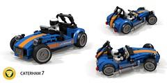 Caterhan 7 - 620R (lego911) Tags: caterham lotus lightweight 7 seven 620r racer auto car moc model miniland lego lego911 ldd render cad povray british britain carlgreatrix 2016 2010s supercharger supercharged