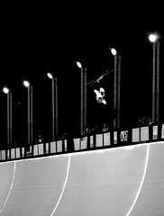 Worldcup Final (Quentin Pom) Tags: tignes halfpipe ski blackandwhite snow ice night fuji xt1 55200