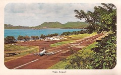 SLU02 (By Air, Land and Sea) Tags: airport postcard saintlucia westindies slu vigieairport aircraft airplane airline castries