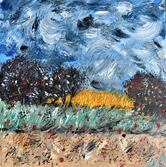 ~~ Printemps~~ (Joélisa) Tags: peinture acrylique art toile mars2018