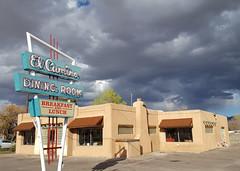 13/100 El Camino Dining Room (Helen Orozco) Tags: 13100 sign elcamino 100x2018edition neon route66 albuquerque
