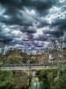 Puente peatonal (Martika64) Tags: puente bridge cielo sky nubes clouds edificios buildings río river ríoguadalope guadaloperiver paisaje landscape paisajeurbano townscape urbanlandscape colorimage imagenacolor espacioabierto outdoor